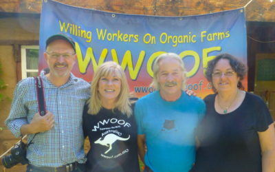 ABC's Landline visits the WWOOF Office in W Tree
