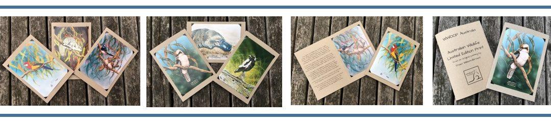 Limited Edition Wildlife Prints, great WWOOF Souvenir's