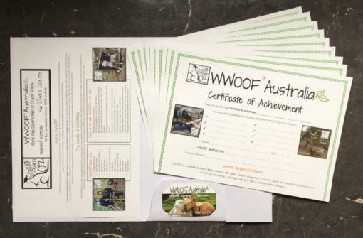 WWOOFer Certificate Pack