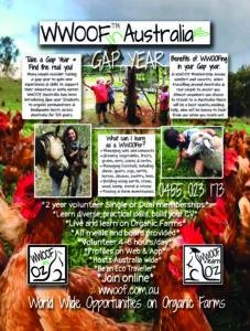 WWOOF Gap Year Poster