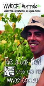 WWOOF Gap year flyer