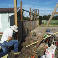 Creating a fence for the owner of the farm