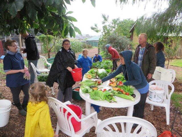Garden produce from Mia Mia community garden