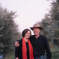 Robert and Anne in the Olive Grove